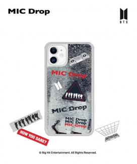 [supergoods] BTS DNA theme Glitter Phone Case - MIC DROP / BTS グリッターPhoneケース(MIC DROP)
