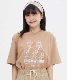 [TARGETTO] [FRIZMWORKS X TGT]カップルグラフィック ティーシャツ / [FRIZMWORKS X TGT]COUPLE GRAPHIC TEE SHIRT