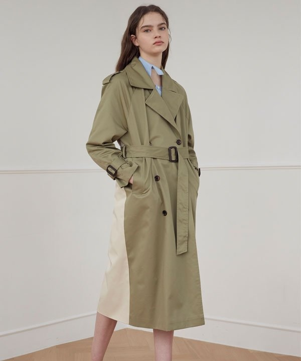 [1159STUDIO] MH7 1159 TRENCH GOLD RING LONG COAT