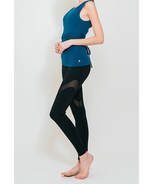 [TRUEFOXY] Side mesh panel yoga leggings