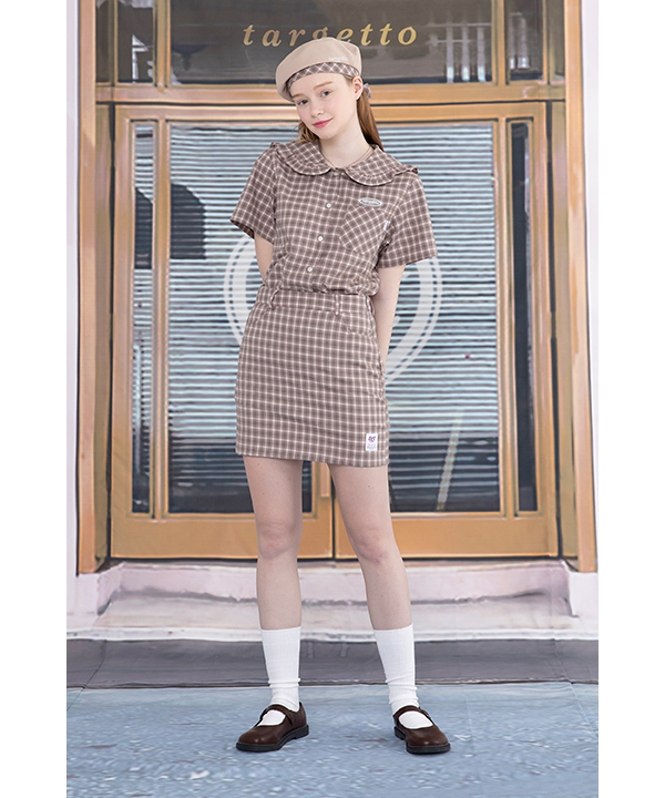 [TARGETTO] NEO TGT CHECK SKIRT / ネオTGTチェックスカート