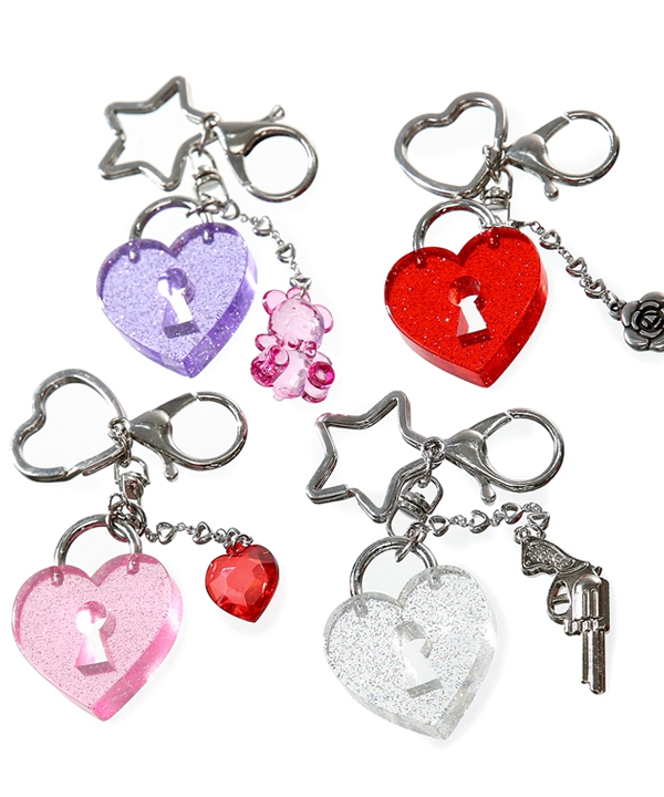[CLUT STUDIO] heart lock key ring / ハートロックキーリング