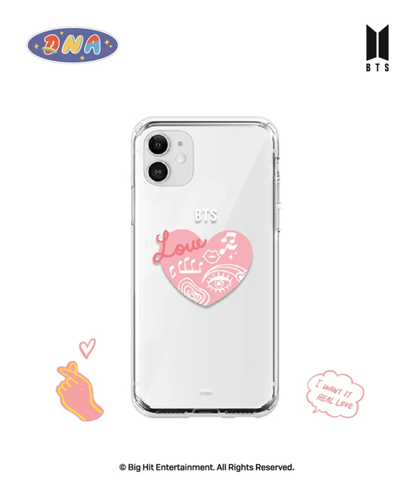 [supergoods] BTS DNA theme Clear TPU Case - HEART / BTS MIC Dropテーマ クリアソフトケース(HEART)