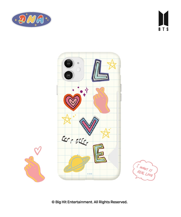 [supergoods] BTS DNA theme Card Snap Case - LOVE / BTS DNAテーマ カード収納Phoneケース(LOVE)