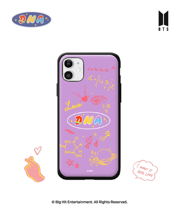 [supergoods] BTS DNA theme Door Bumper Case -PURPLE / BTS DNAテーマ 耐衝撃Phoneケース(PURPLE)