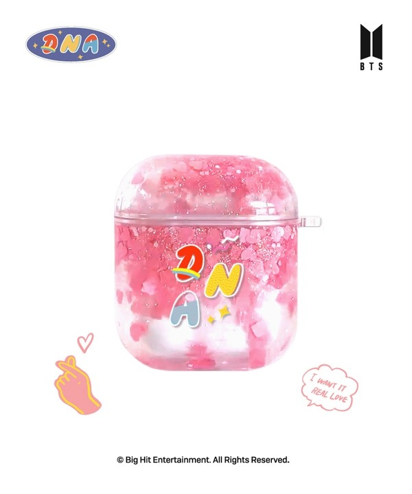 [supergoods] BTS DNA theme Glitter Airpods case - FOREVER LOVE / BTS グリッターAirPodsケース(FOREVER LOVE)