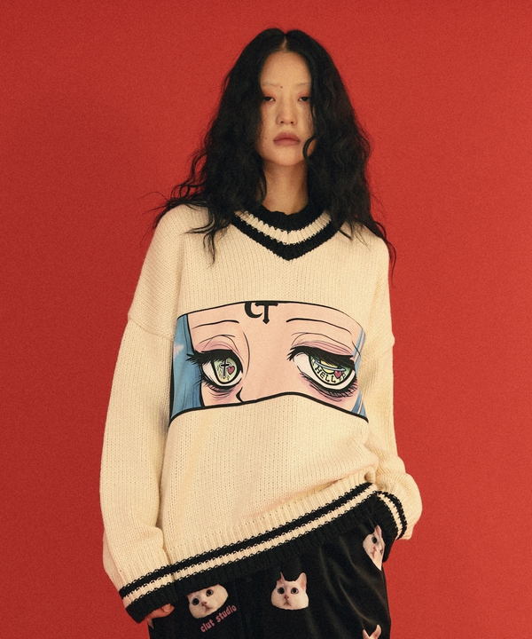 [CLUT STUDIO] hell girl cable knit / ヘルガール ケーブルニット