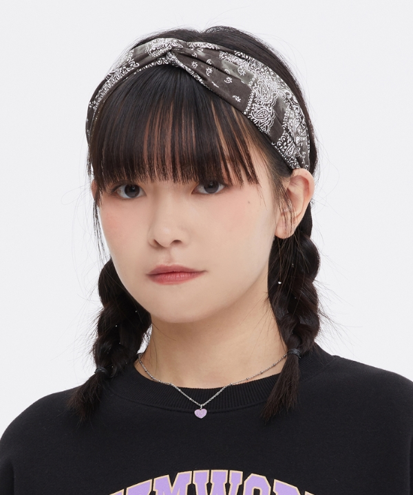 [TARGETTO] [FRIZMWORKS X TGT] ペイズリーヘアバンド/ [FRIZMWORKS X TGT]PAISLEY HAIR BAND