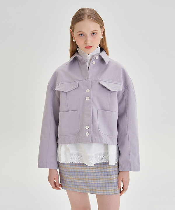 [LETTER FROM MOON] パステルパレット コットンジャケット / Pastel Palette Cotton Jacket