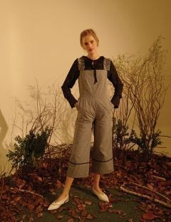 [SINOON] Gingham check Jump Suit