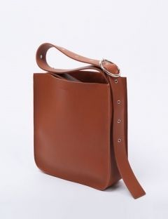 [DIAGONAL] artificial leather buckle bag