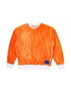[LEVARN] FUR SWEATSHIRT [ORANGE]