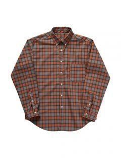 [LEVARN] OVER SIZED CHECK SHIRT [ORANGE]