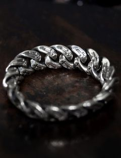 [BLESSED BULLET] [SV925]6mm cross chain ring
