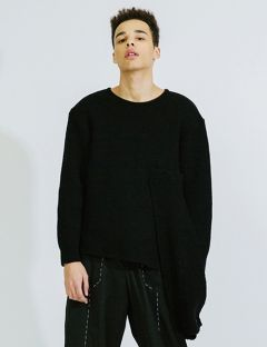 [DOZOH] MUFFLER POINTED LAMBSWOOL KNIT