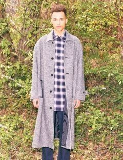 [FREIKNOCK] OVERSIZED TWEED COAT