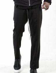 [BLESSED BULLET] B0973 INCISION CROPPED SLIM SLACKS