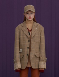 [UNALLOYED] WOOL CHECK JACKET