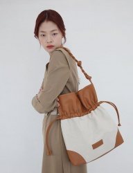 [SOFT SEOUL] big sketch leather bag [brown]