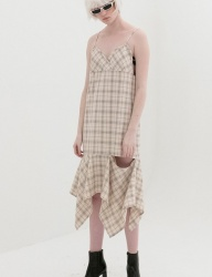 [B ABLE TWO] Asymmetry Open Dress (BEIGE)