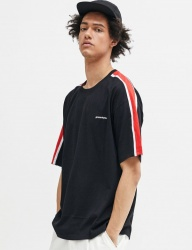 [GROOVERHYME] 2018 SLEEVE BLOCK T-SHIRTS OVER FIT