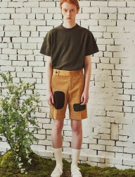 [by Standard] Patchwork Corduroy Shorts