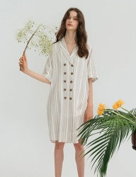 [nuissue] SUMMER DOUBLE TRENCH DRESS [STRIPE]