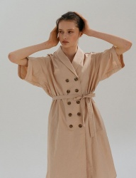 [nuissue] SUMMER DOUBLE TRENCH DRESS [POWDER]
