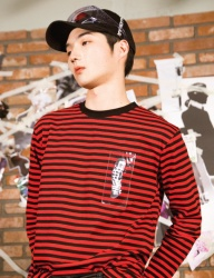 [swallowtale] Swallowtale PVC Stripe long sleeved T-shirts