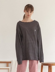 [TARGETTO] BOAT NECK LONG SLEEVE STRIPE