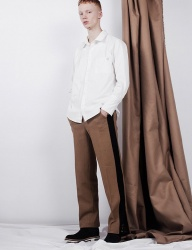 [B ABLE TWO] Side Line Wide Pants (CAMEL)