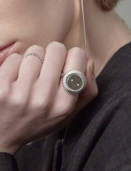 [090FACTORY] [Silver] Button Ring