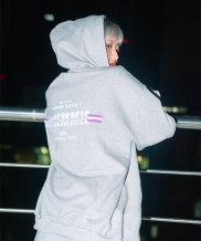 [HOMMMIE] [HOMMMIE]21c Come back hoodies zip-up (m-grey)