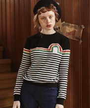 [INES] RAINBOW STRIPE KNIT