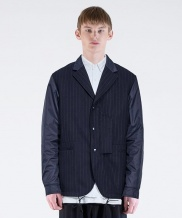 [FROMMARK] MIXED COACH BLAZER JACKET(STRIPE)