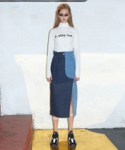 [B ABLE TWO] Color Effects Denim Skirt
