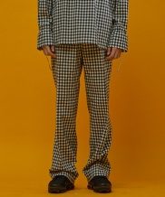 [SEWING BOUNDARIES] GINGHAM CHECK STRING PANTS