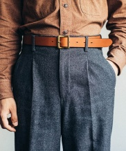 [WILD BRICKS] CB BRASS LEATHER BELT