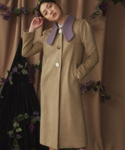 [GOCORI] Big Collar Cashmere Coat