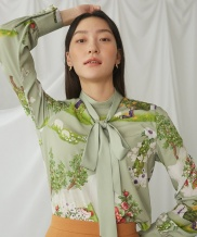 [GOCORI] Long Canopy Blouse