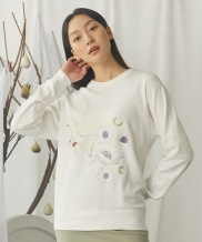 [GOCORI] Dove With Anemone Sweatshirts