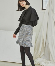 [Sorry, Too Much Love] Tweed Ruffle Skirts