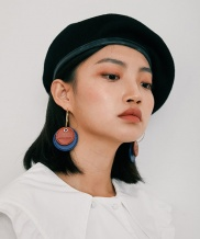 [MIDNIGHT MOMENT] two leather earring