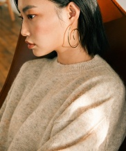 [MIDNIGHT MOMENT] spiral earring