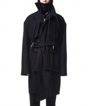 [MANODDIOS] M.N.D Cover-Up Wool Tech Coat