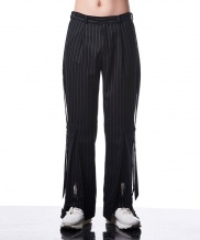 [MANODDIOS] M.N.D Side Belted Wide Pants Stripe