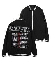 [overtheone] [082] BACK LETTERING BOMBER JACKET