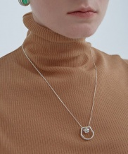 [090FACTORY] [Silver] Mixed shape lines Necklace