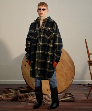 [TRUNK PROJECT] Oversized Shearling Check Shirts Coat