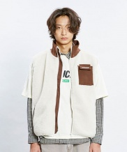 [CHUCK] 18 WINTER CHUCK SHERPA FLEECE ZIPUP VEST